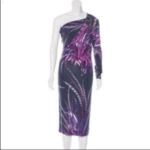 Just Cavalli one shoulder long sleeve dress 44